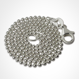 Bead necklace in 925 sterling silver
