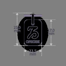Dimensions du pendentif ASTRO CAPRICORNE de la collection de bijoux pour enfants MIKADO.