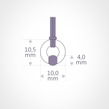 Dimension du pendentif NEWBORN de la collection de bijoux pour enfants MIKADO.