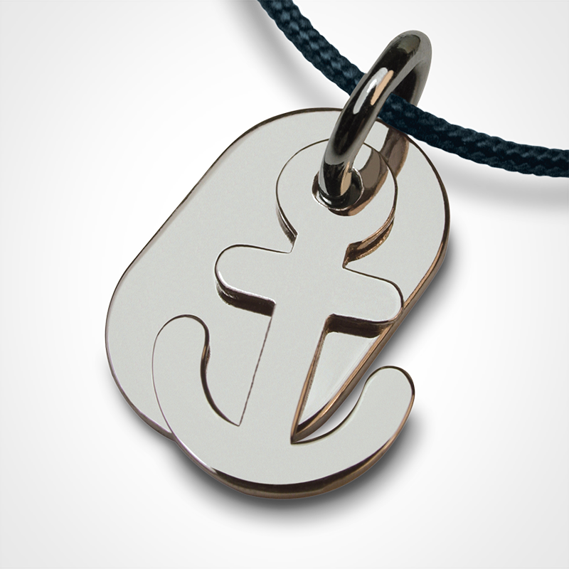 POPEYE anchor pendant in 925 sterling silver by the jewellery collection for children MIKADO.