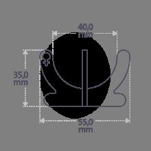 Dimensions du coquetier COCO GIRL de la collection de bijoux pour enfants MIKADO.