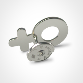 Alpa system of the SEX SYMBOL BOY pins in 925 sterling silver by the jewellery collection for children MIKADO.