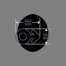 Dimensions du pin's SEX SYMBOL BOY en argent 925 millièmes de la collection de bijoux pour enfants MIKADO.