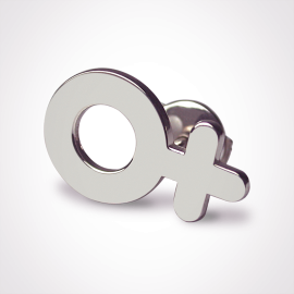 SEX SYMBOL GIRL pins in 925 sterling silver by the jewellery collection for children MIKADO.