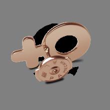Système Alpa du pin's SEX SYMBOL en or rose millièmes de la collection de bijoux pour enfants MIKADO.