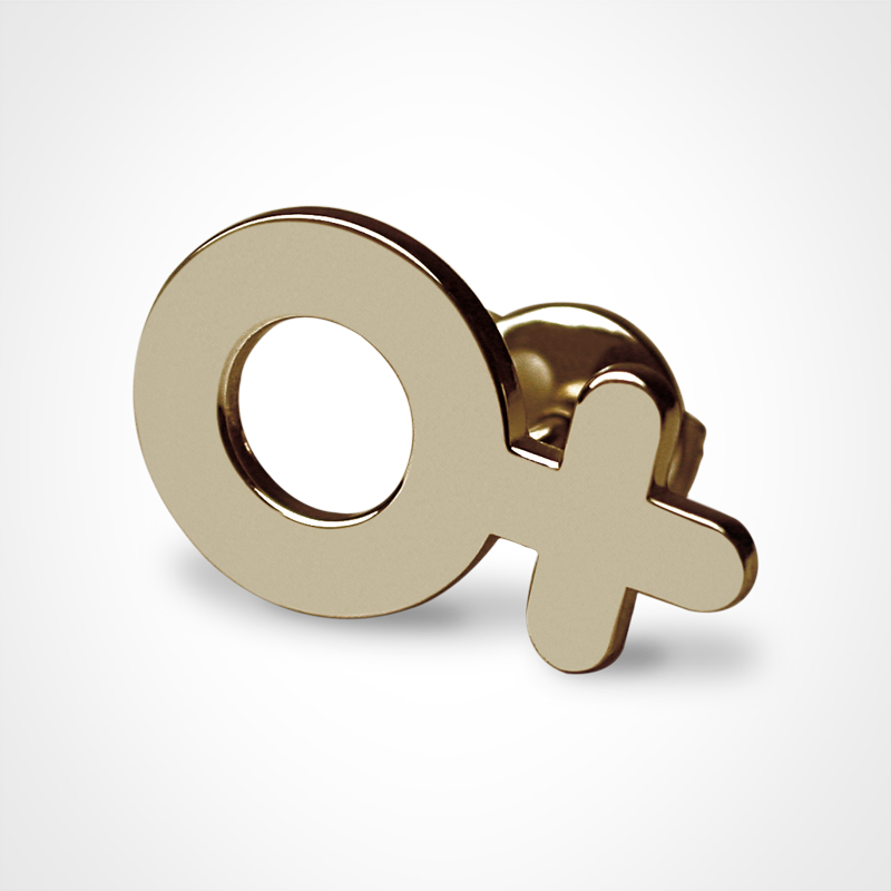 SEX SYMBOL GIRL pins in 750 yellow gold by the jewellery collection for children MIKADO.