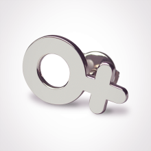 SEX SYMBOL GIRL pins in 750 white gold by the jewellery collection for children MIKADO.