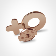Alpa system in SEX SYMBOL GIRL pins in 750 pink gold by the jewellery collection for children MIKADO.
