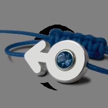 Bracelet SEX SYMBOL BOY SAPHIR en argent 925 millièmes de la collection de bijoux pour enfants MIKADO.