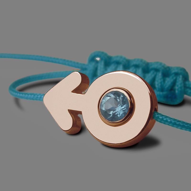 Bracelet SEX SYMBOL BOY TOPAZE BLEUE en or rose 750 millièmes de la collection de bijoux pour enfants MIKADO.