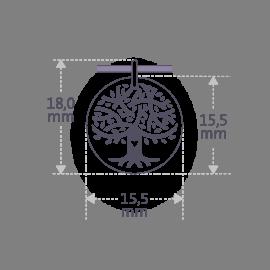 Dimensiones del colgante LOVETREE de la colección de joyería infantil MIKADO.