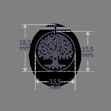 Dimensions du pendentif LOVETREE de la collection de bijoux pour enfants MIKADO.