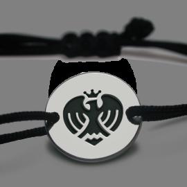 Bracelet jeton AIGLE DE NICE noir en argent 925 millièmes de la collection LA PLÀIA.
