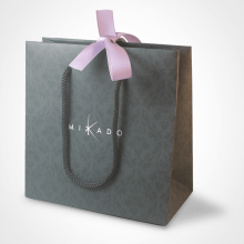 The gift bag from the MIKADO children's jewellery collection.