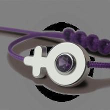 Bracelet SEX SYMBOL GIRL AMÉTHYSTE en argent 925 millièmes de la collection de bijoux pour enfants MIKADO.