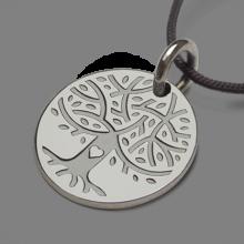 Médaille arbre de vie LOVETREE en argent 925 millièmes et cordon de la collection de bijoux pour enfants MIKADO.