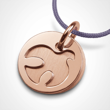 PALOMA christening medal in 750 pink gold by the jewellery collection for children MIKADO.