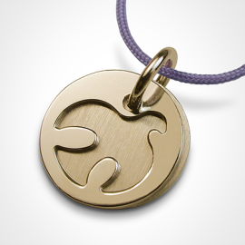 PALOMA christening medal in 750 yellow gold by the jewellery collection for children MIKADO.
