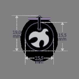 Dimensiones de la medalla de bautismo PALOMA de la colección de joyas infantiles MIKADO.