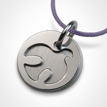 PALOMA christening medal in 925 sterling silver by the jewellery collection for children MIKADO.