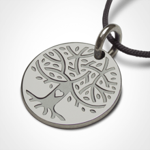 LOVETREE tree of life pendant in 750 white gold by the jewellery collection for children MIKADO.