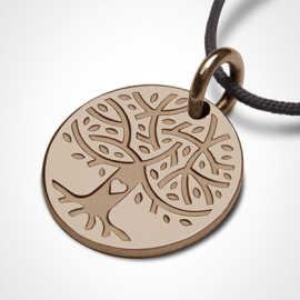 LOVETREE tree of life pendant in 750 pink gold by the jewellery collection for children MIKADO.