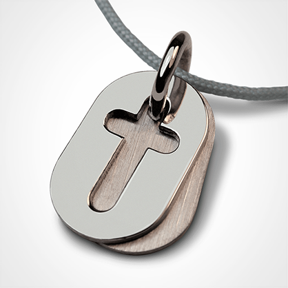 AMEN pendant in 750 white gold from the jewellery collection for children MIKADO.