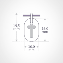 Dimensions of the AMEN pendant from MIKADO jewellery for kids.