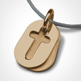 AMEN pendant in 750 yellow gold from the jewellery collection for children MIKADO.