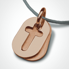 AMEN pendant in 750 pink gold from the jewellery collection for children MIKADO.