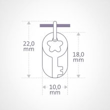 Dimensions du pendentif SÉSAME de la collection de bijoux pour enfants MIKADO.