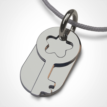 SESAME pendant in 750 white gold by the jewellery collection for children MIKADO.