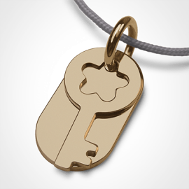 SESAME pendant in 750 yellow gold by the jewellery collection for children MIKADO.