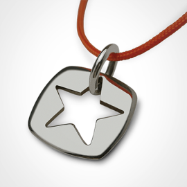 CHE pendant in 750 white gold by the jewellery collection for children MIKADO.