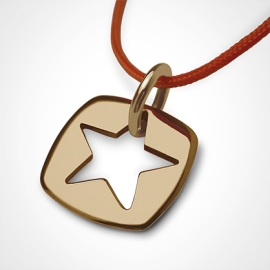 CHE pendant in 750 yellow gold by the jewellery collection for children MIKADO.