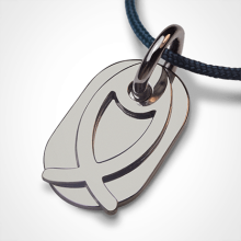 ICHTHYS christening pendant in 925 sterling silver by the jewellery collection for children MIKADO.