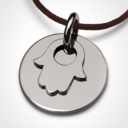 I BELIEVE FATIMA CHAMSA HAND pendant in white gold by the jewellery collection for children MIKADO.