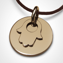 I BELIEVE FATIMA CHAMSA HAND pendant in yellow gold by the jewellery collection for children MIKADO.