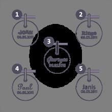 Fermoir coulissant en argent 925 millièmes des cordons de la collection de bijoux pour enfants MIKADO.
