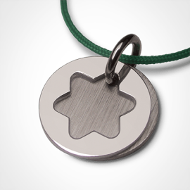 I BELIEVE STAR pendant in 750 white gold by the jewellery collection for children MIKADO.