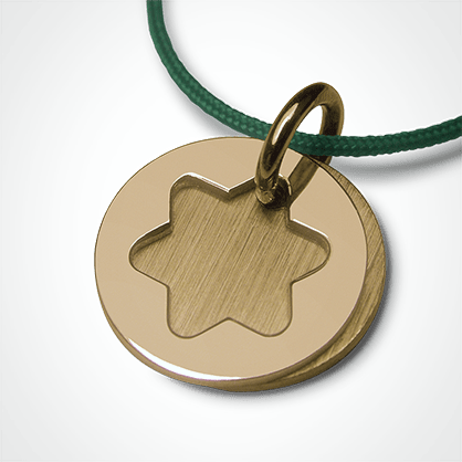 I BELIEVE STAR pendant in 750 yellow gold by the jewellery collection for children MIKADO.