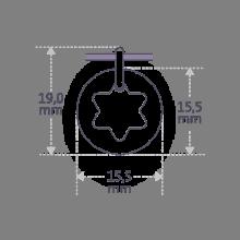 Dimensions de la médaille de baptême I BELIEVE ÉTOILE de la collection de bijoux pour enfants MIKADO.