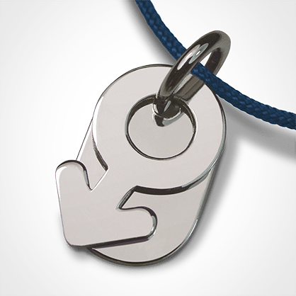 SEX SYMBOL BOY pendant in 925 sterling silver by the jewellery collection for children MIKADO.