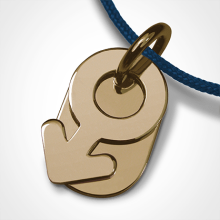 SEX SYMBOL BOY pendant in 750 yellow gold by the jewellery collection for children MIKADO.