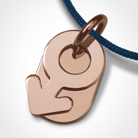 SEX SYMBOL BOY pendant in 750 pink gold by the jewellery collection for children MIKADO.