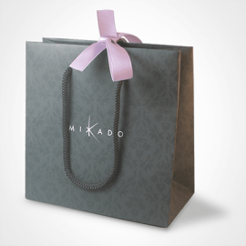 Bolsa de regalo de la colección de joyas infantiles MIKADO.