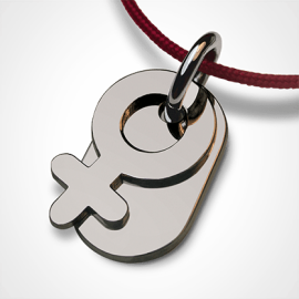 SEX SYMBOL GIRL pendant in 750 white gold by the jewellery collection for children MIKADO.