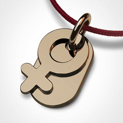 SEX SYMBOL GIRL pendant in 750 yellow gold by the jewellery collection for children MIKADO.