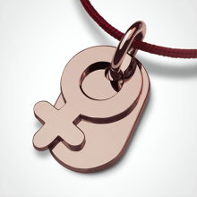 SEX SYMBOL GIRL pendant in 750 pink gold by the jewellery collection for children MIKADO.