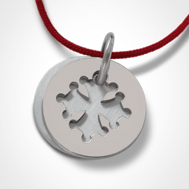 Christening medal CROTZ in silver 925 thousandths of the jewellery collection for children MIKADO.